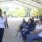 """Supervisa la alcaldesa María León las instalaciones de la jornada de salud de la campaña """"Te queremos sana en tu comunidad"""""""