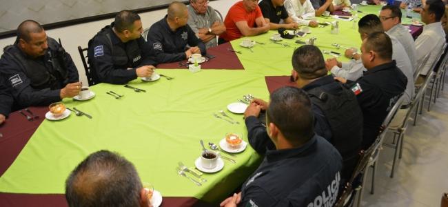 Jefes policíacos de cuadrantes y socios de canirac realizan reunión de acercamiento