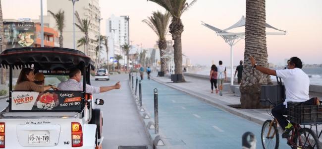Abren a la circulación un carril del malecón de Mazatlán