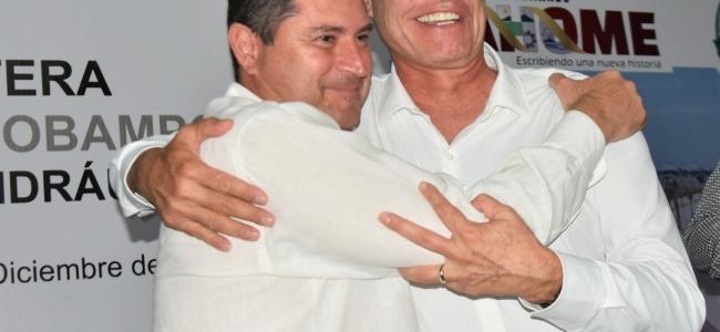 El Gobernador Quirino, El Alcalde Billy Chapman y El Coordinador Jaime Montes, trabajarán en equipo por un mejor Ahome.
