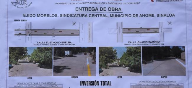 El Alcalde Billy Chapman entrega casi 1 millon 800 mil pesos de inversión en pavimento